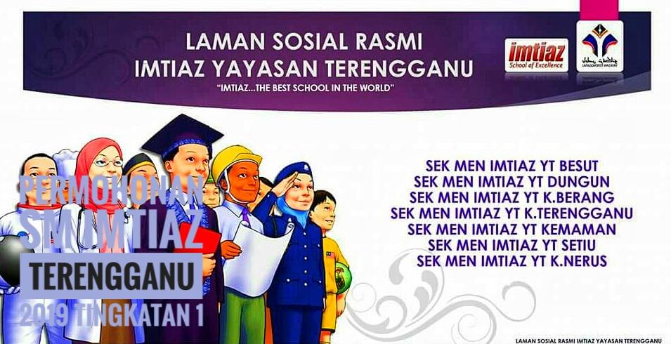 Permohonan SM Imtiaz Terengganu 2019 Tingkatan 1