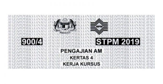 Tajuk Kerja Kursus Pengajian Am STPM 2019