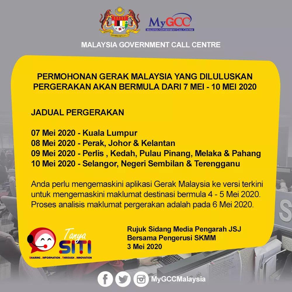 Cara Kemaskini Aplikasi Gerak Malaysia Untuk Pergerakan Rentas Mulai 4 Mei 2020