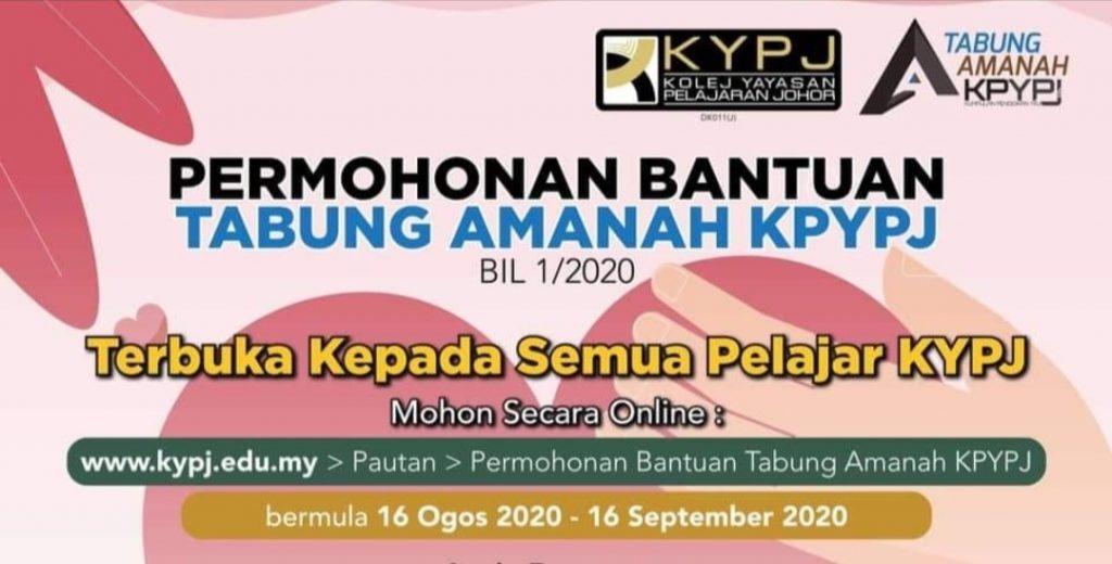 Permohonan Bantuan Tabung Amanah KPYPJ 2020 Online (Semak Status)