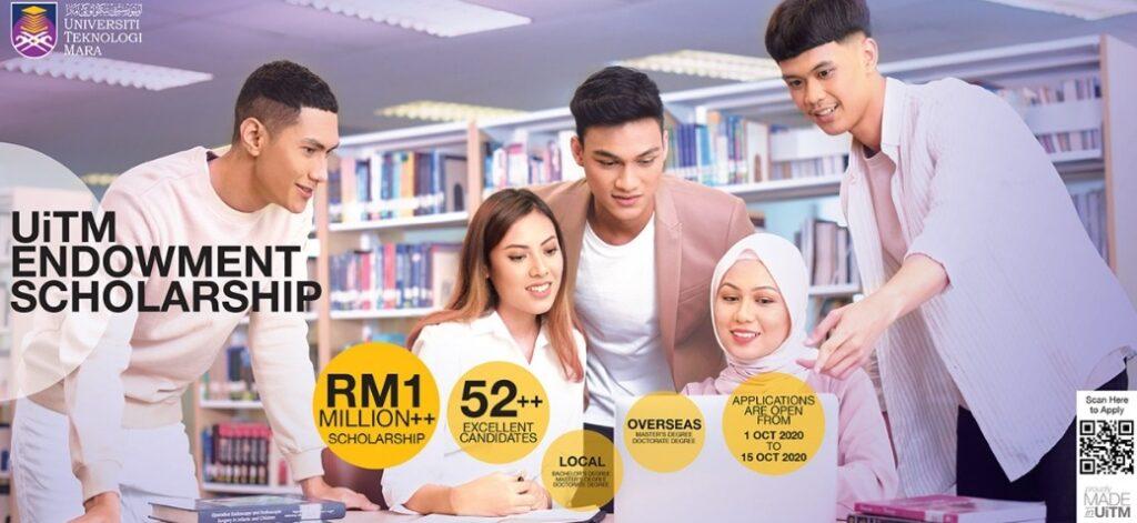 Permohonan Biasiswa Endowmen UiTM 2020 Bantuan Sehingga RM3500 Sebulan