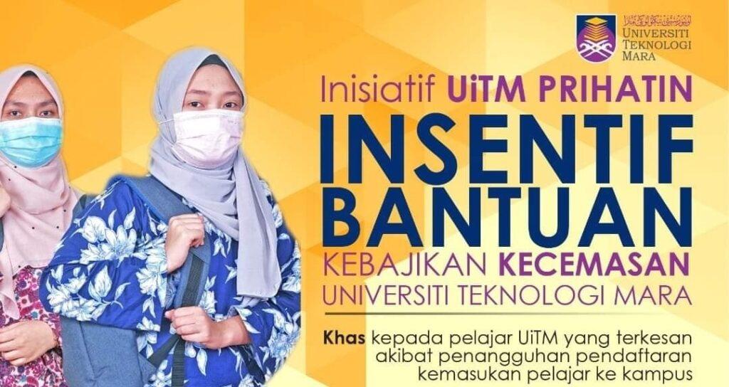 Permohonan Inisiatif UITM Prihatin, Insentif Bantuan RM100 Kepada Pelajar UITM