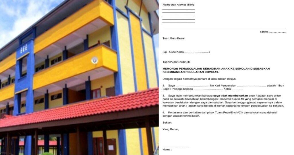 Contoh Surat Tidak Hadir Ke Sekolah Kerana Bimbang Penularan Covid-19