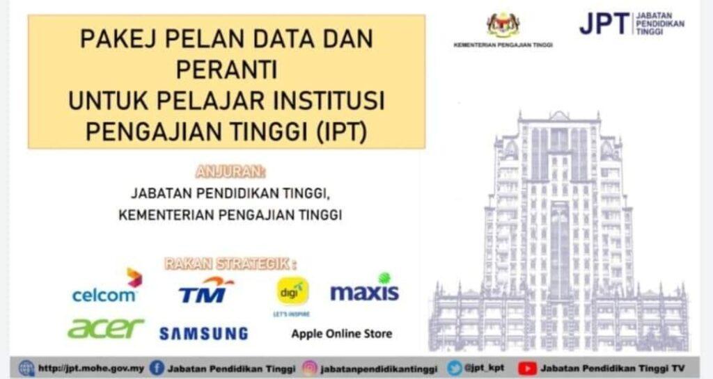 Permohonan Bantuan Pakej Pelan Data Dan Peranti Pelajar IPT B40