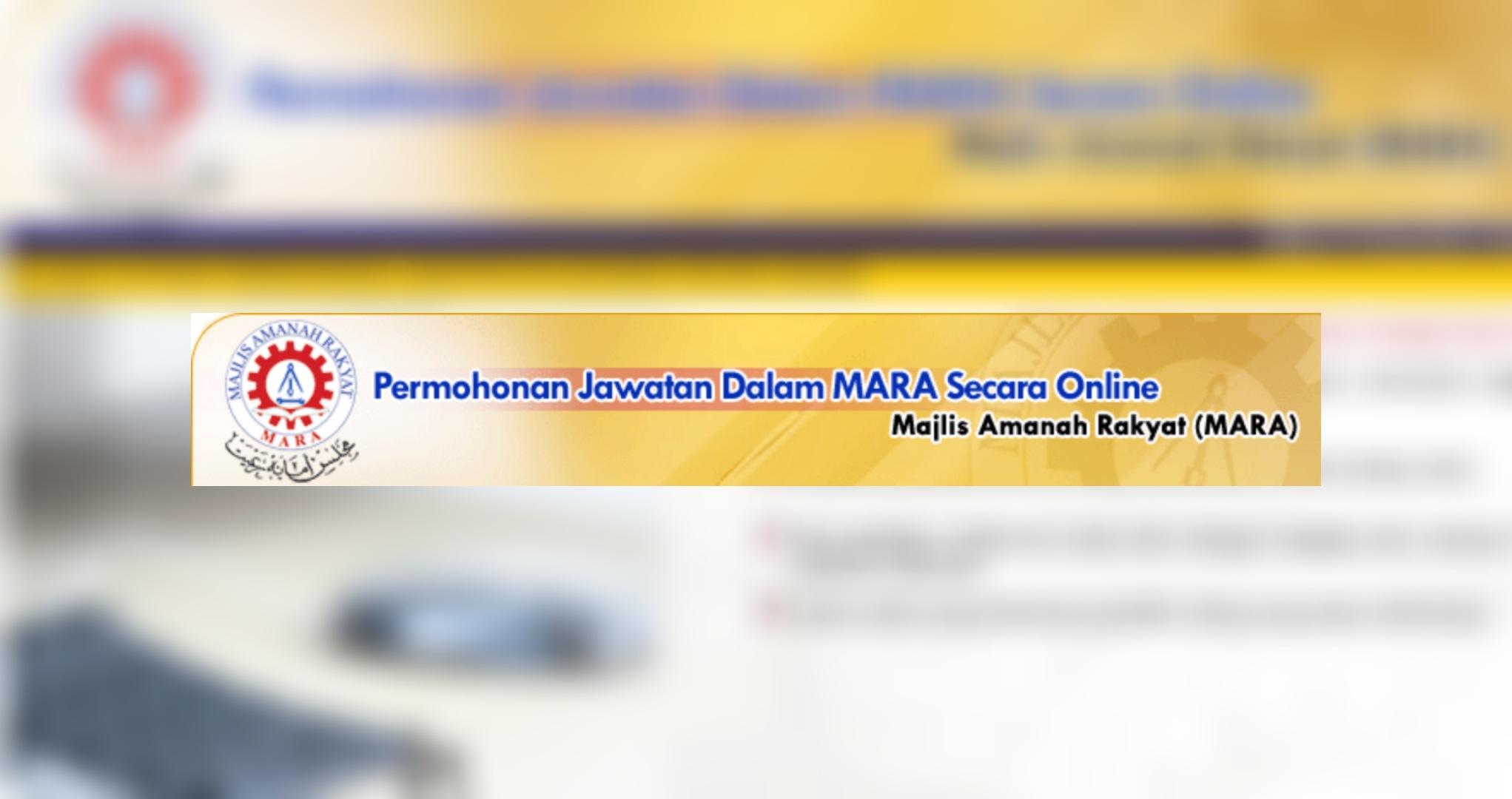 Permohonan Jawatan Kosong Guru Mara 2020 Online