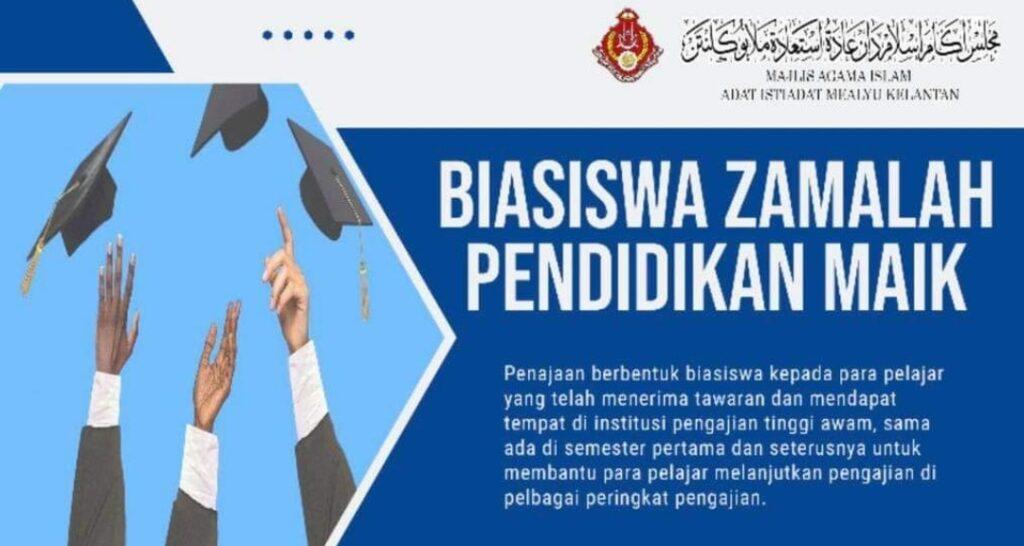 Permohonan Biasiswa Zamalah Pendidikan MAIK 2021 (Semakan Keputusan)